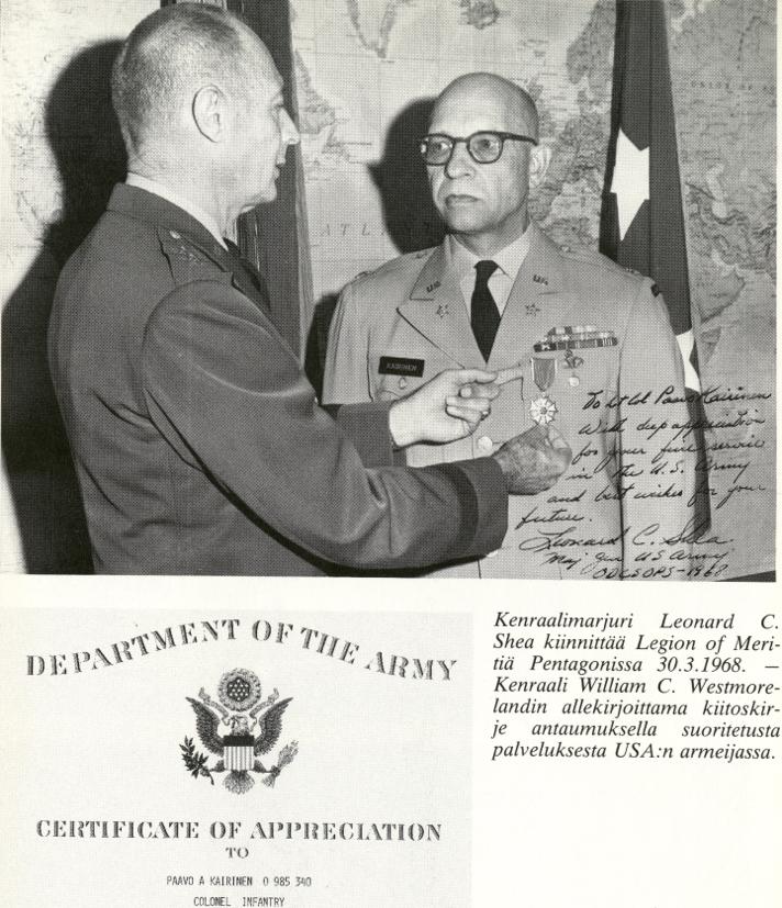 """Paavo A. Kairinen oli Eemil Nuutisen Lanko. """"Marttisen miehet"""" on hänen Muistelmateoksensa asekätkentään osallistuneiden ja USA:ssa palvelleiden upseerien vaiheista. Marttisen miehet aloittivat sotamiehinä amerikkalaisissa joukoissa. Varsin nopeasti he ylenivät upseereiksi. Eläkkeelle siirtyneistä seitsemän kohosi eversteiksi. Neljästä tuli everstiluutnantteja. Sekä Korean että Vietnamin sota oli kohtalokas osalle, mm Lauri Törni menehtyi Vietnamissa. Antero Havola osallistui Korean sotaan ja johti ensimmäistä maitse Etelänavalle mennyttä USA:n retkikuntaa."""